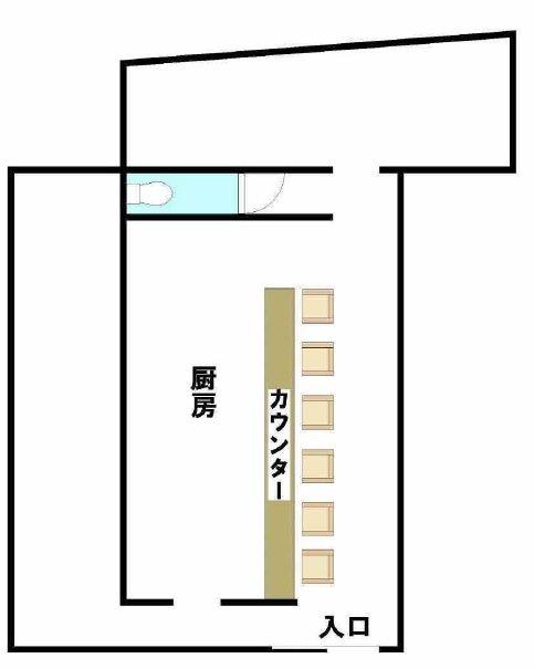 貸店舗・事務所 東大阪市 宝持1丁目 大島店舗 間取り