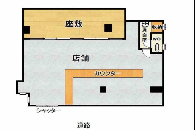 貸店舗・事務所 大阪市 生野区 舎利寺2丁目 間取り