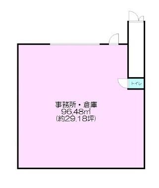 貸店舗・事務所 東大阪市 長田3丁目 間取り