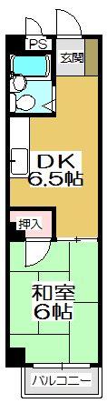オリエンタル香春口 304号室 間取り