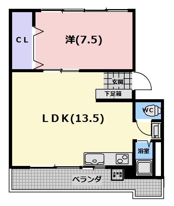 吉川マンションB棟 間取り