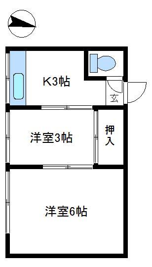 翠雲荘 206号室 間取り