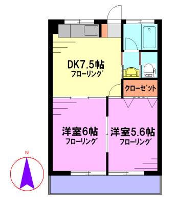 蓮田マンション 201号室 間取り