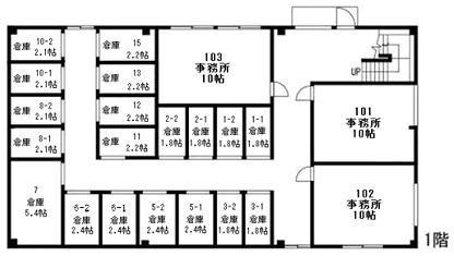 ぷち蔵 高林 002-1号室 間取り