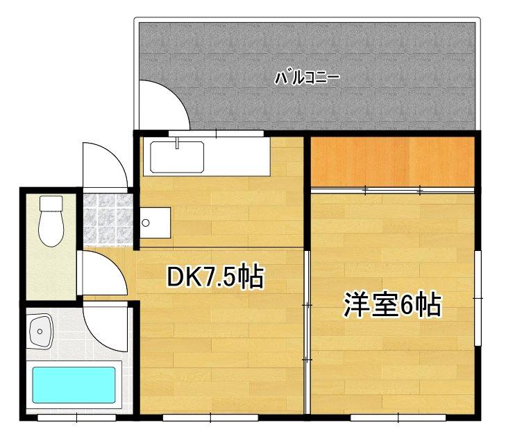 第6濱田ビル 41号室 間取り