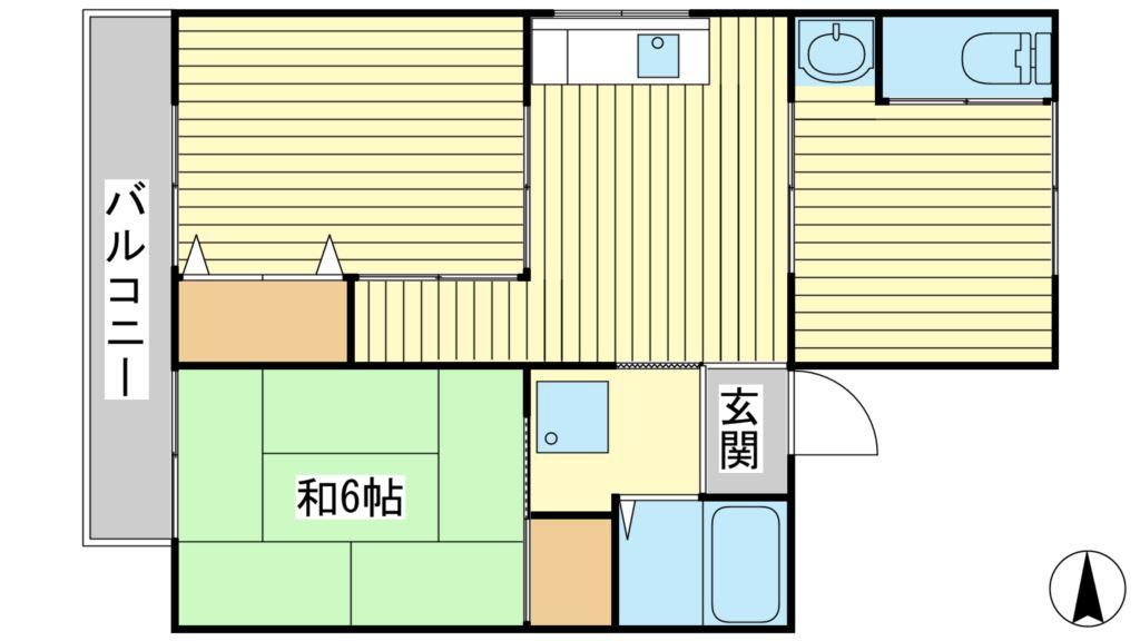 西三木マンション 東館 5号室 間取り