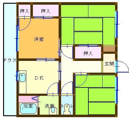 清和荘 103号室 間取り