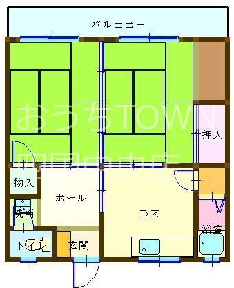 武村マンション朝日 105号室 間取り