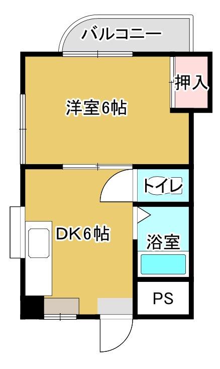 パピヨンM 203号室 間取り