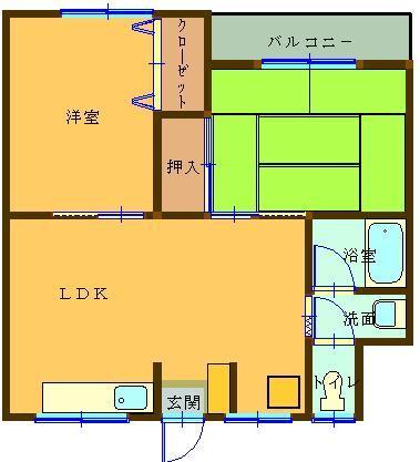 松田マンション 303号室 間取り