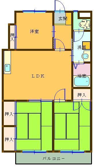 西沢ビル No.1 208号室 間取り