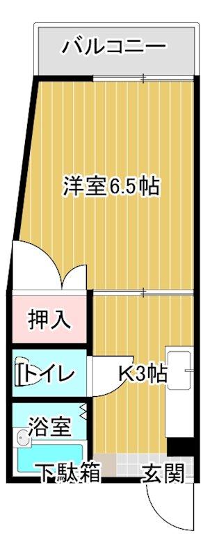 池田マンション 506号室 間取り