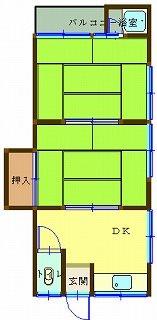 椿荘 間取り図