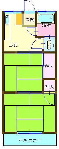 佐々木荘 間取り図
