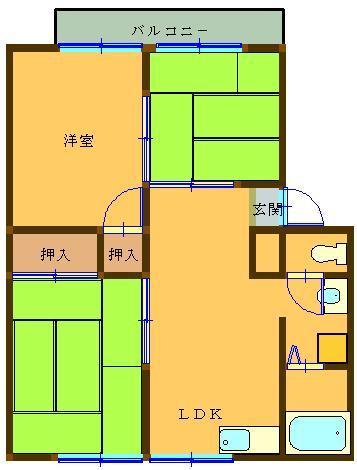 仙波ハイツⅡ 102号室 間取り