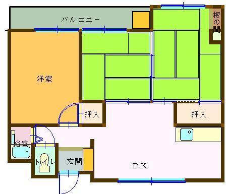 ガーデン・ビラ・マツオカ 201号室 間取り