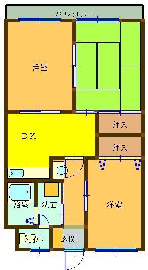 第3松本マンション 403号室 間取り