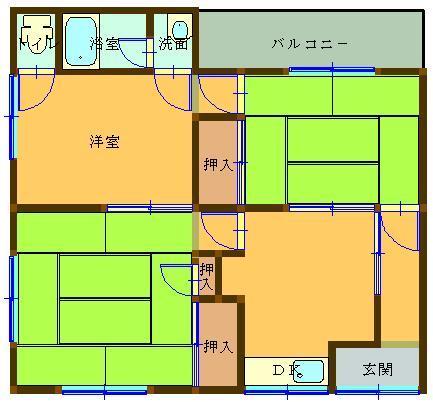オレンジハウス余戸 202号室 間取り