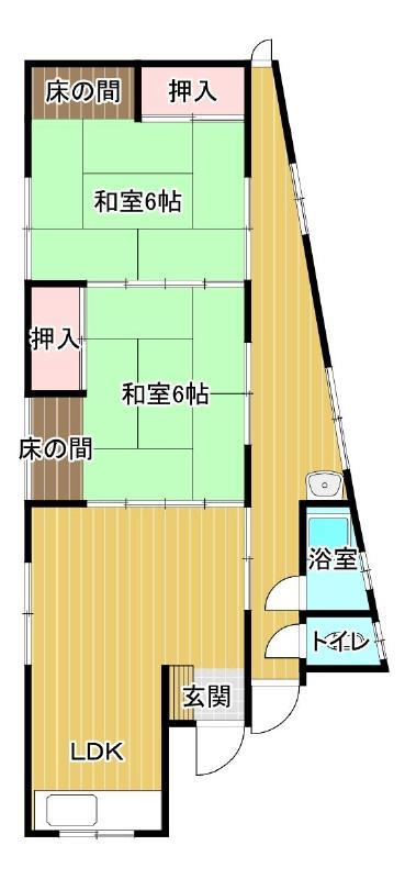 藤田アパート 1号室 間取り