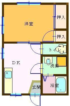 駅前アパート 103号室 間取り