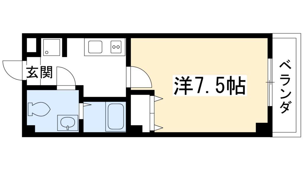 京都府京都市中京区西ノ京中保町88-1 間取り