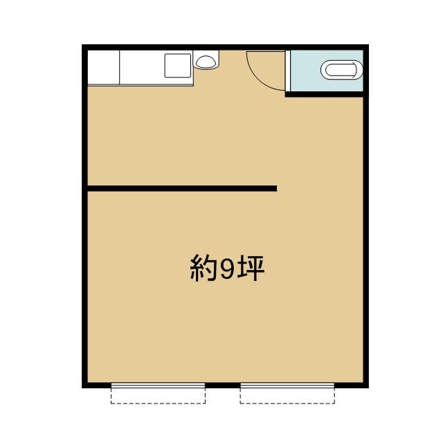 RKCマンション 206号室 間取り
