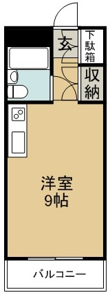 玉成ハイツ 202号室 間取り