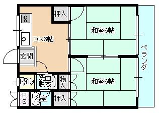 ルシェール川真田 302号室 間取り