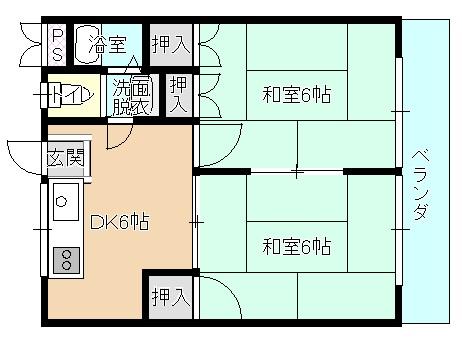 ルシェール川真田 303号室 間取り