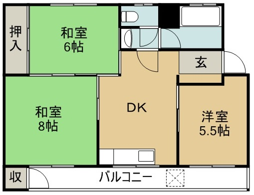 斎藤マンション 202号室 間取り