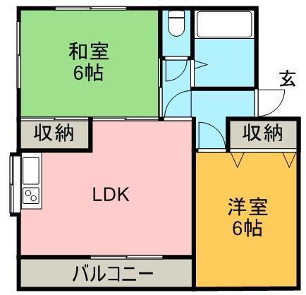 ニュー大原住宅 201号室 間取り