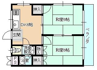 ルシェール川真田 204号室 間取り