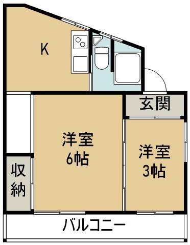 高橋アパート 8号号室 間取り