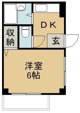 住田マンション 201号室 間取り