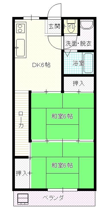 戸井第二ビル 303号室 間取り