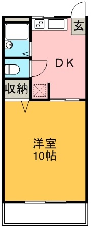 水口マンション 103号室 間取り