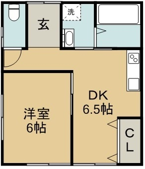 本谷借家(万代町郵便局横) 1号室 間取り