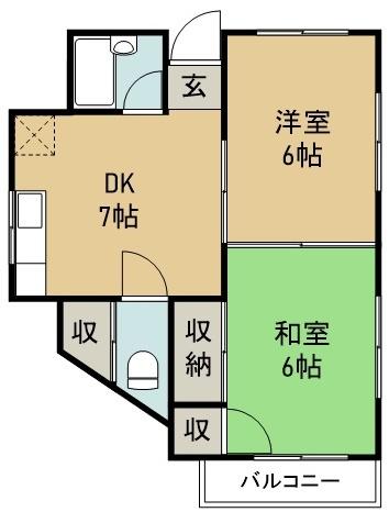 松本アパート 2号室 間取り