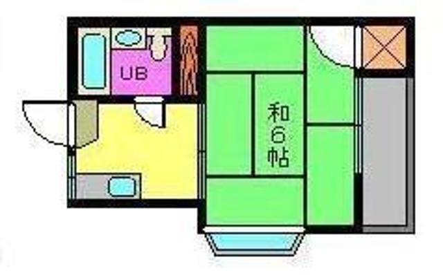 コーポ中川Ⅱ 201号室 間取り