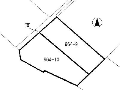 三萩野一丁目土地 間取り図