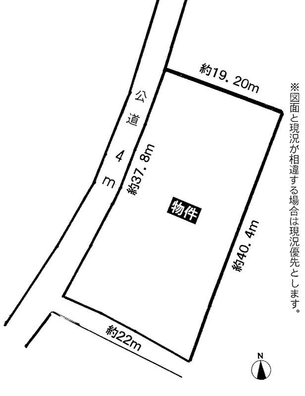 瀬戸市三沢町1丁目 土地 間取図・土地図