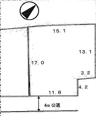 鈴鹿市江島町 土地 間取図・土地図