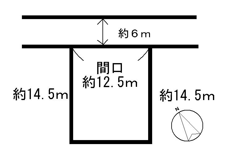 松阪市中万町  間取図・土地図