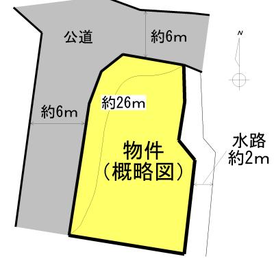松阪市下村町 間取図・土地図