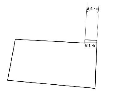 感田土地 間取り図