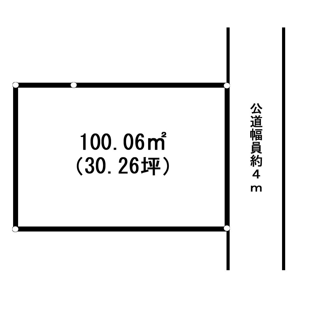 東平中山団地内売地 間取り図
