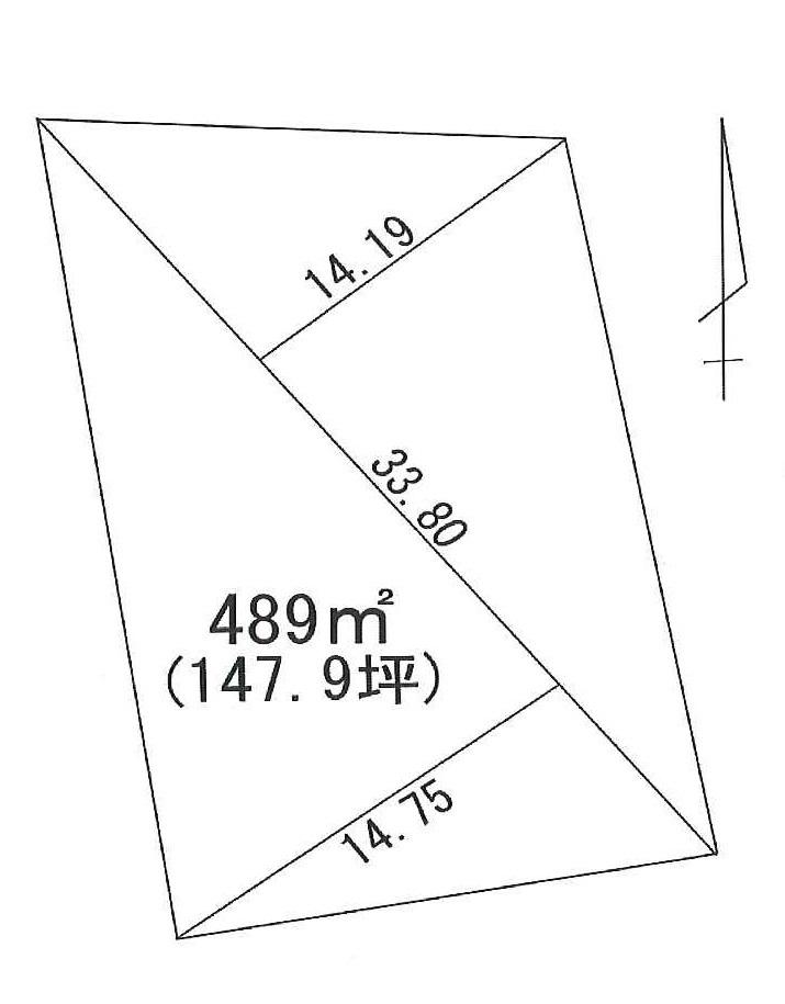 富士ヶ嶺高原 売土地 間取り図