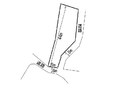 西鳴水二丁目土地 間取り図