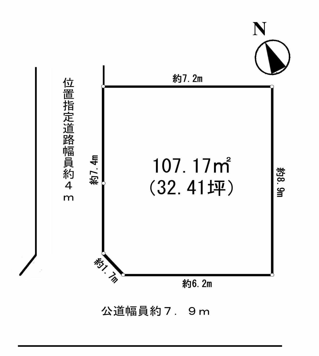 東松山市野田 東武台団地売地 間取り図