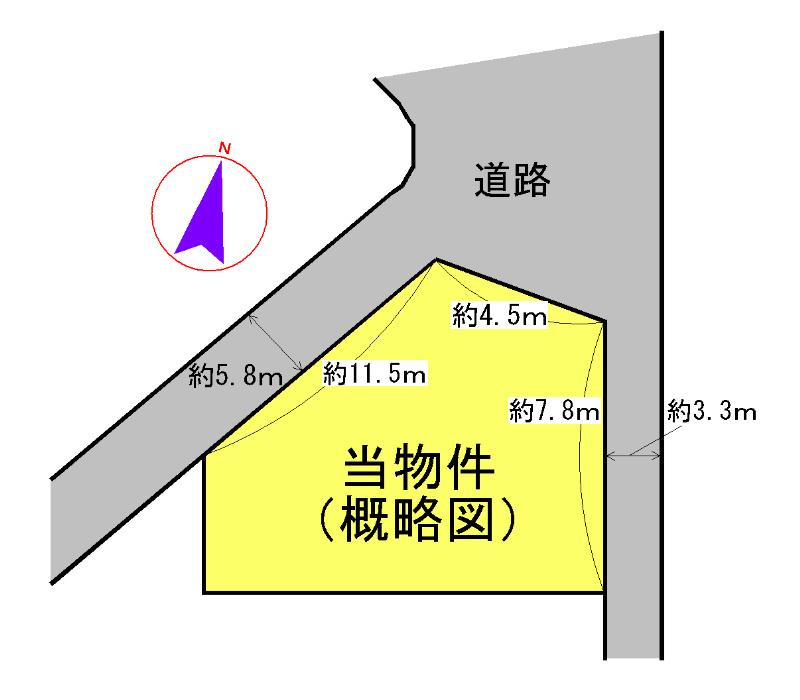 駅部田町 間取図・土地図